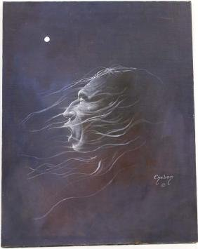 Original Chebon Barnoski Night Song Painting