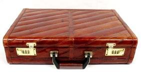 Burgundy Eel Skin Briefcase