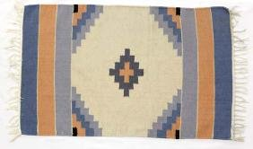 Hand Woven Fringed Cotton Rug