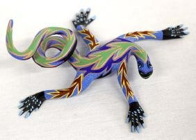Mexican Oaxacan Alebrije Lizard by Ramirez