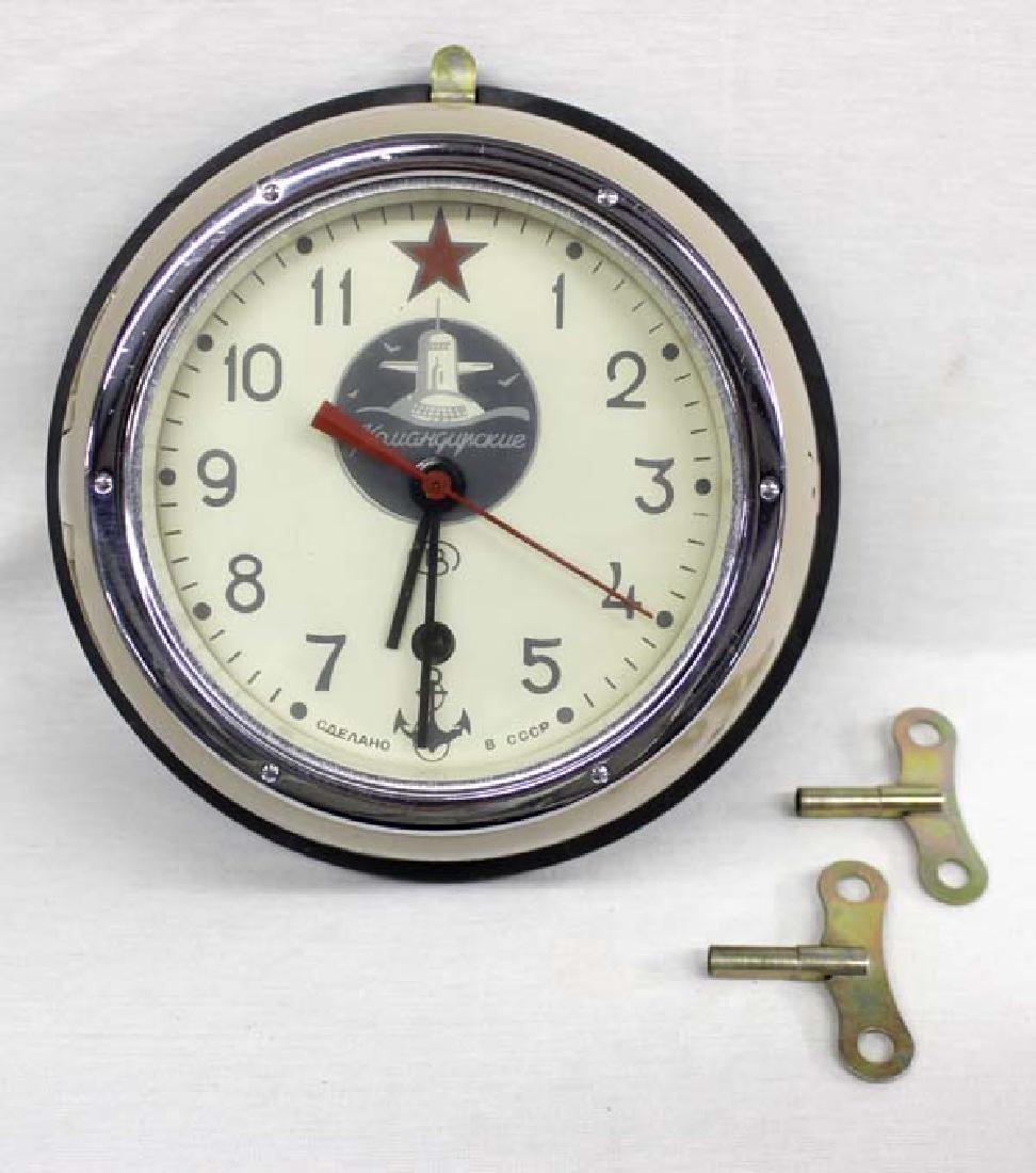 Antique russian cast aluminum submarine clock estate antique russian cast aluminum submarine clock amipublicfo Images