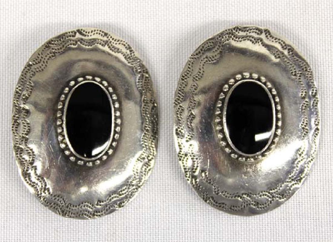 Boma Sterling Silver Onyx Earrings