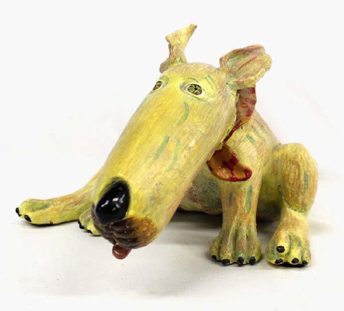 Estate 1999 R. Laidman Composition Dog Wearing Bandana