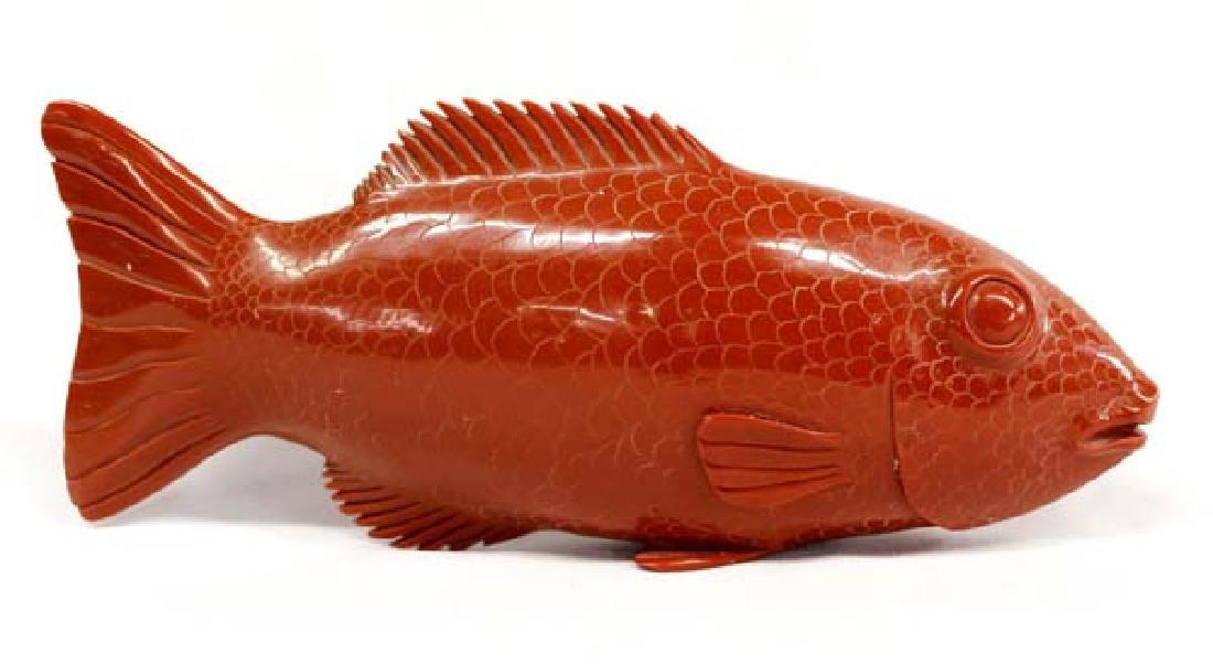 Fabulous Vintage Carved Composite Coral Fish
