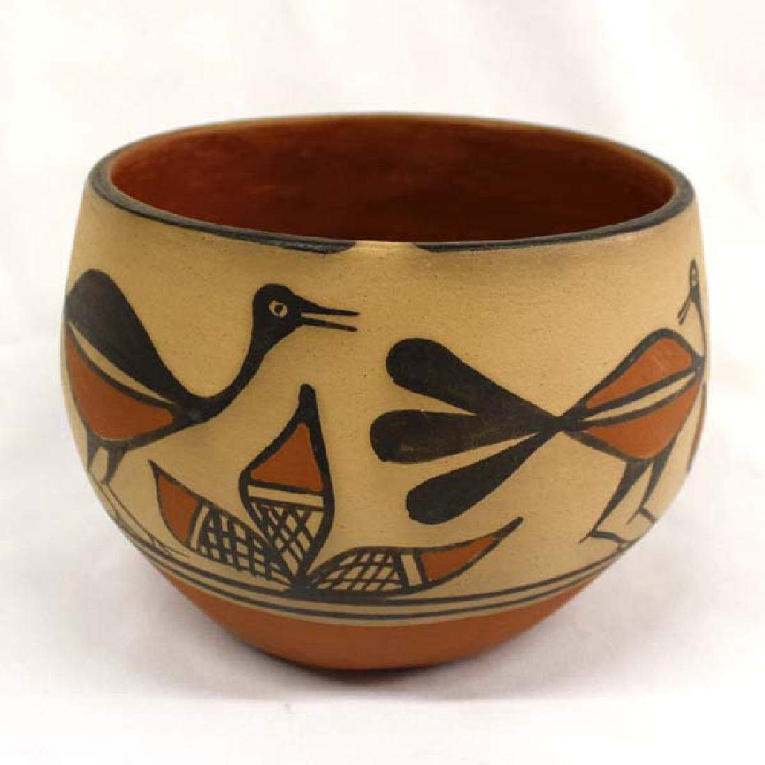 Beautiful Santo Domingo Pottery Bowl by Tenorio