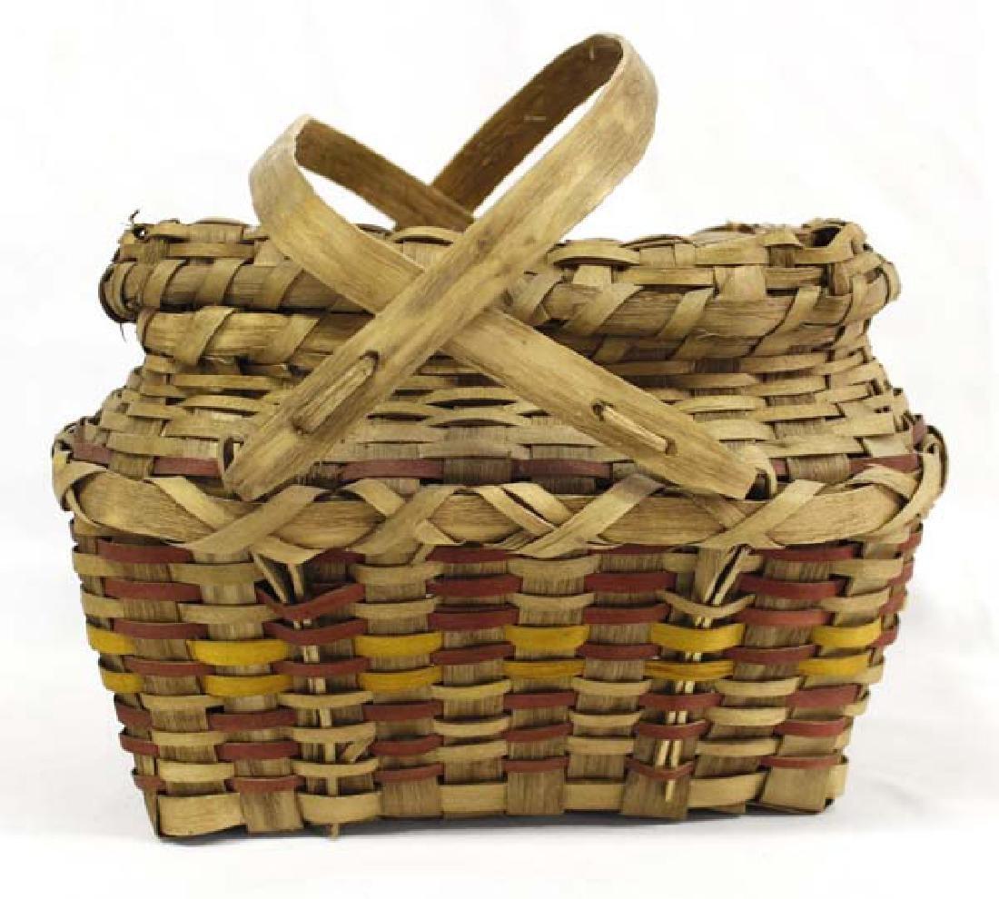 Hummert Estate Native American Penobscot Lidded Basket