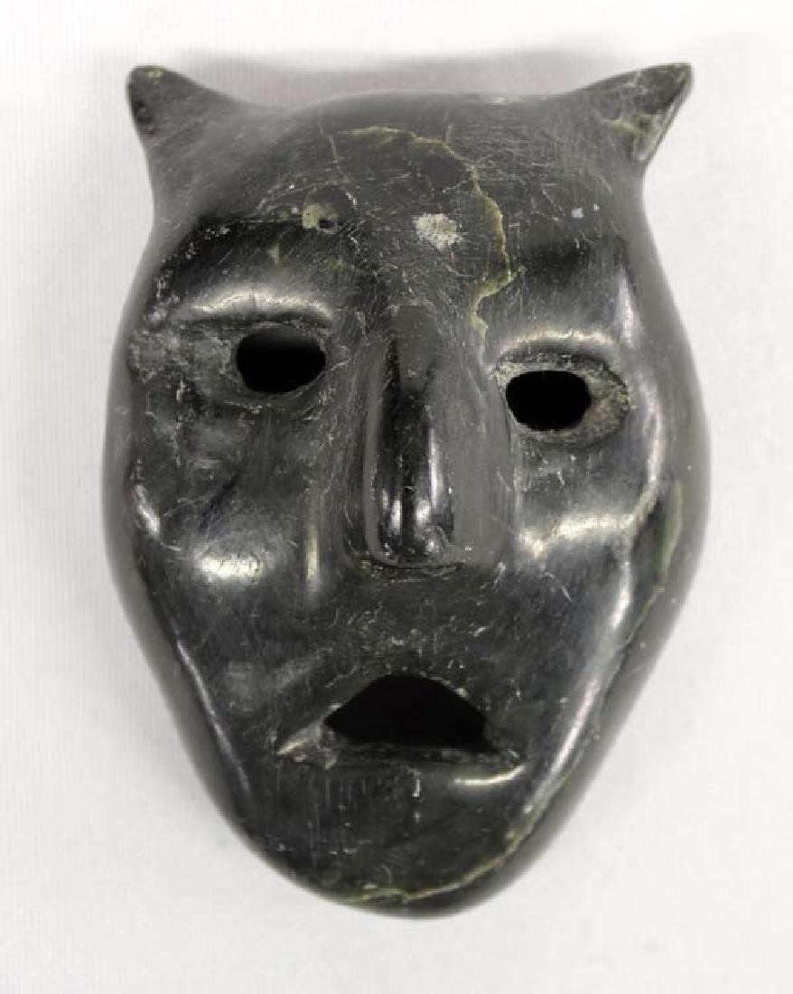 Canadian Inuit Carved Stone Transformation Mask