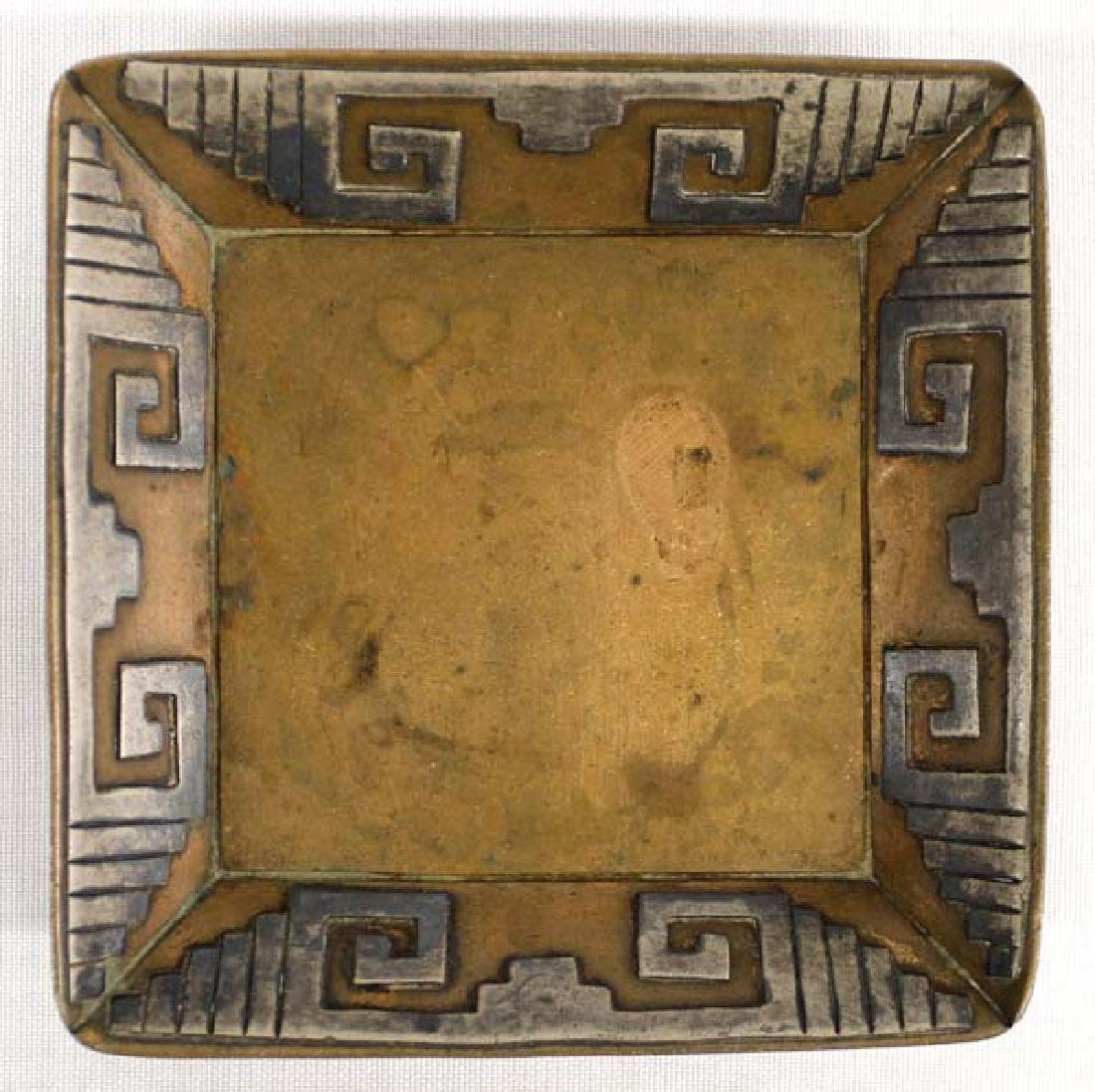 Estate Taxco Copper Sterling Silver Tray Marked Vicoria