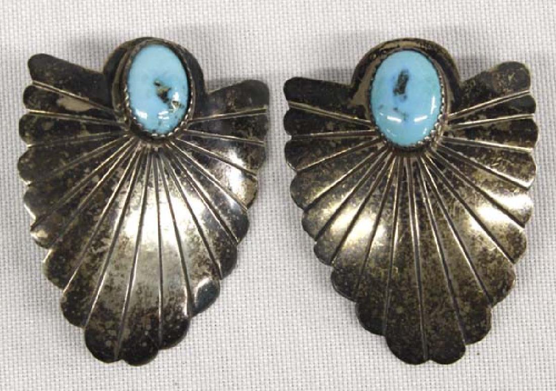 Navajo Sterling Turquoise Earrings