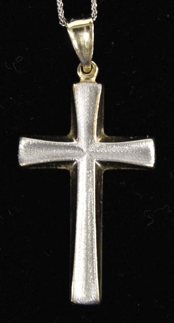 14Kt Gold Cross Pendant Necklace