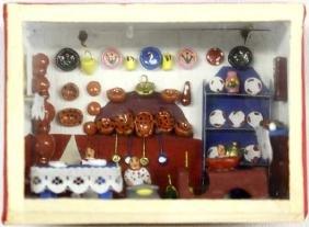 Mexican Kitchen Folk Art Diorama