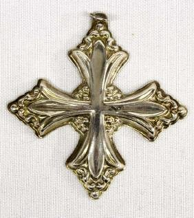 1991 Reed & Barton Sterling Silver Cross