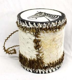 African Hand Painted Hand Drum