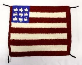 Native American Navajo American Flag Wool Textile