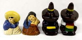 2 Sets of Mexican Salt and Pepper Shakers