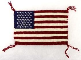 Navajo Miniature Wool Textile American Flag