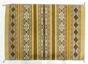 Navajo Burnt Water Natural Vegetal Dye Textile Rug