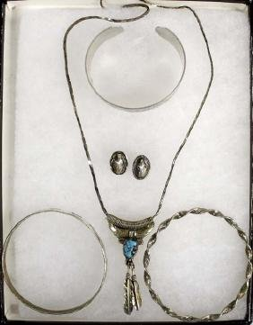 Collection of Mexican Sterling Silver Jewelry