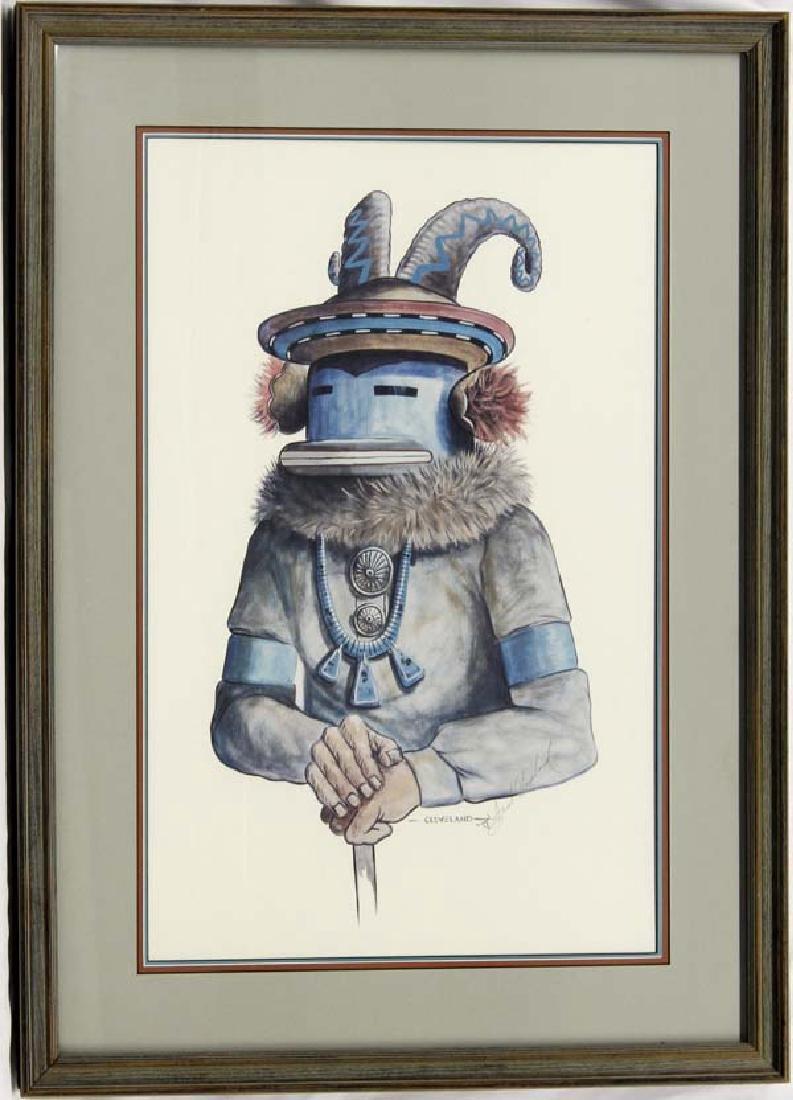 Estate Signed Ram Kachina Print by Fred Cleveland