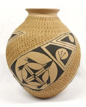 Mexican Mata Ortiz Pottery Turtle Jar by Sandoval