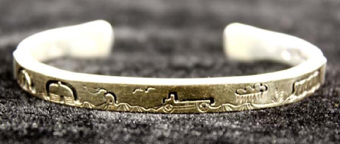 Navajo 14K Gold on Sterling Storyteller Bracelet