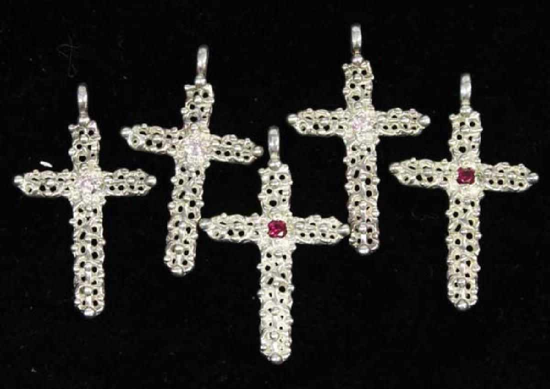5 Sterling Silver Cross Pendants