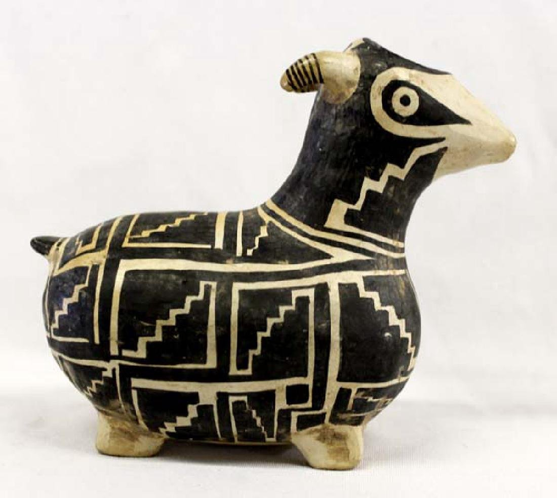 Mexican Black and White Pottery Goat