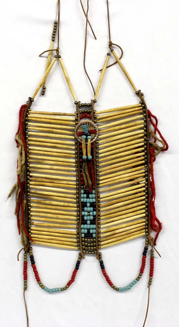 Native American Hare Pipe Bone Breastplate