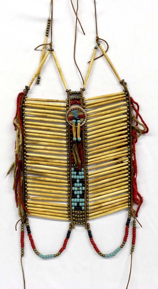 Native American Hare Pipe Bone Breastplate