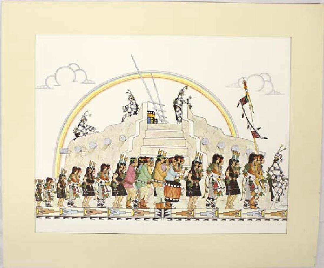 Native American San Ildefonso Print, J.D. Roybal