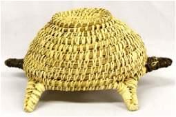 Native American Tohono O'odham Basketry Turtle