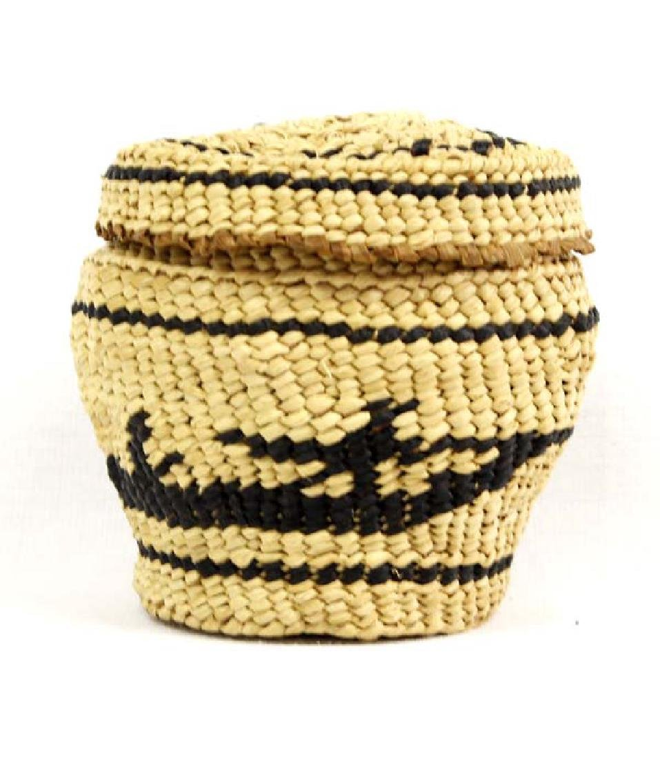 Native American Makah Pictorial Whaler's Basket