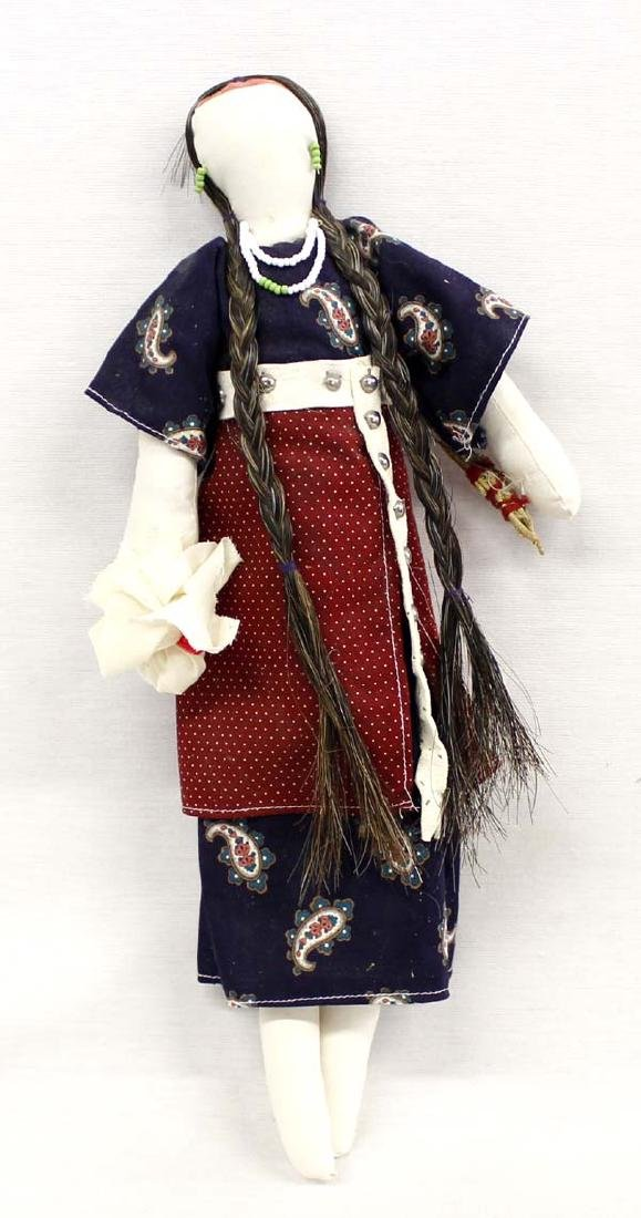 Native American Cherokee Cloth Doll by V. Stroud
