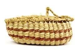 Native American Makah Basket with Handle