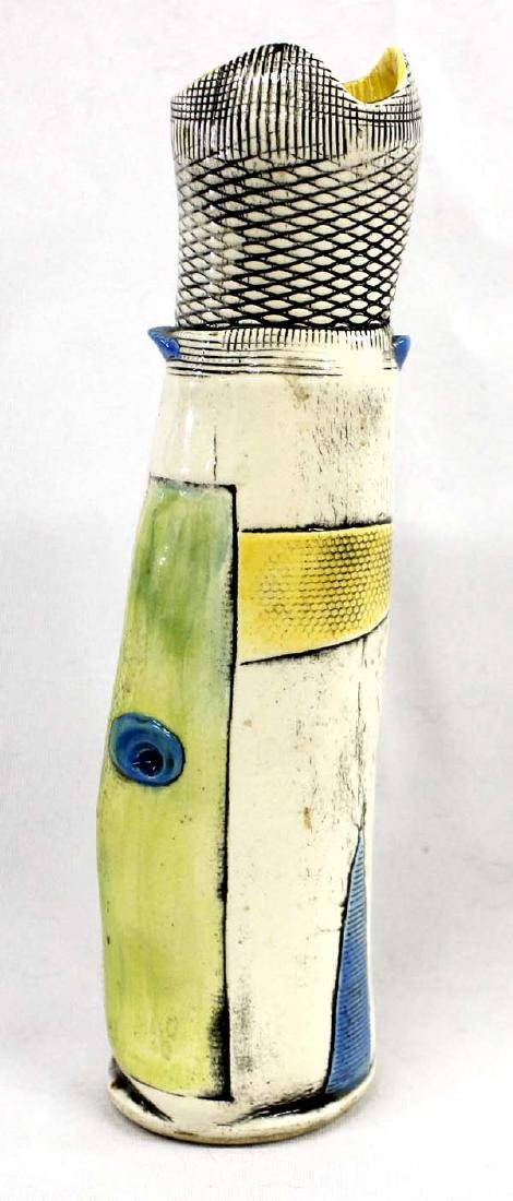 Whimsical One of a Kind Ceramic Vase by Campbell