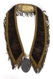 1793 George Washington Peace Medal on Collar