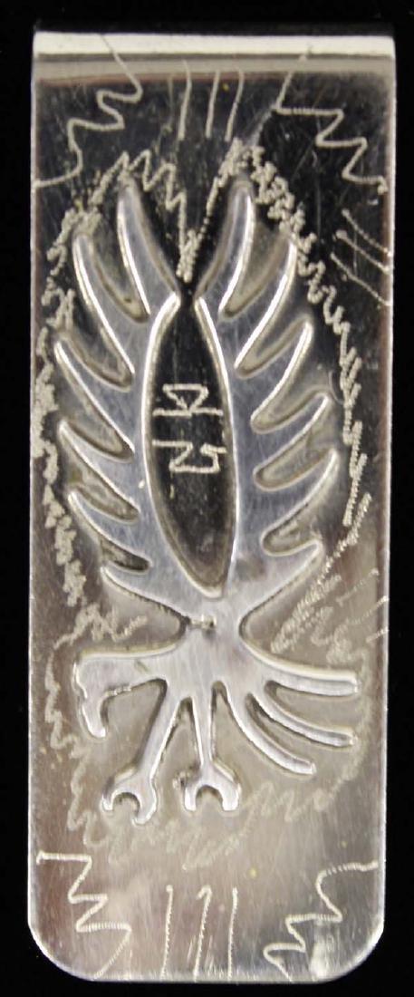 Native American Navajo Sterling Silver Money Clip