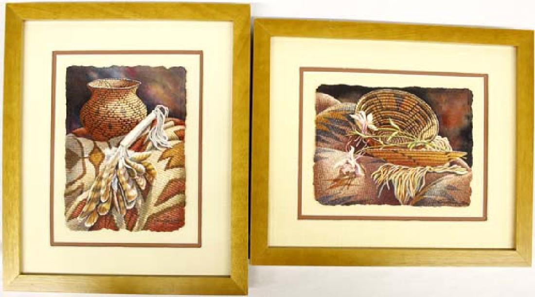 2 Original Framed Watercolors by Carol Hamilton
