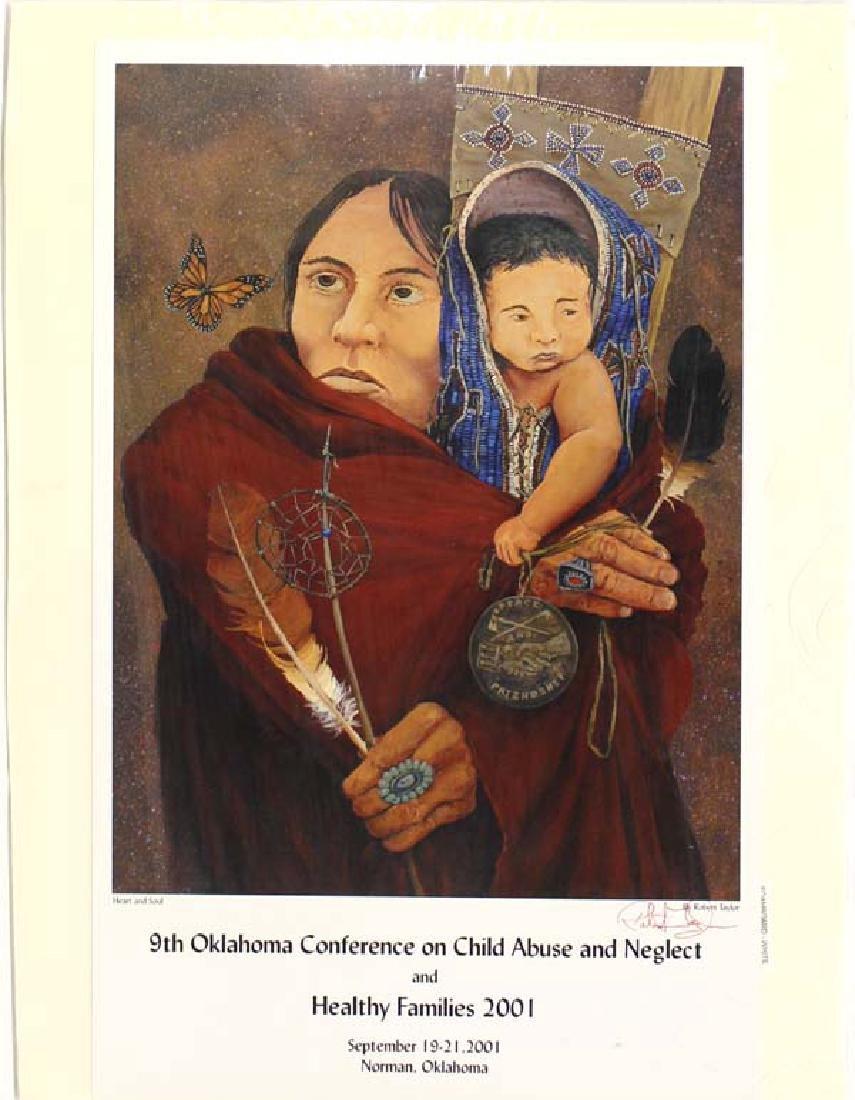 Rare Native American Signed Poster, Robert Taylor