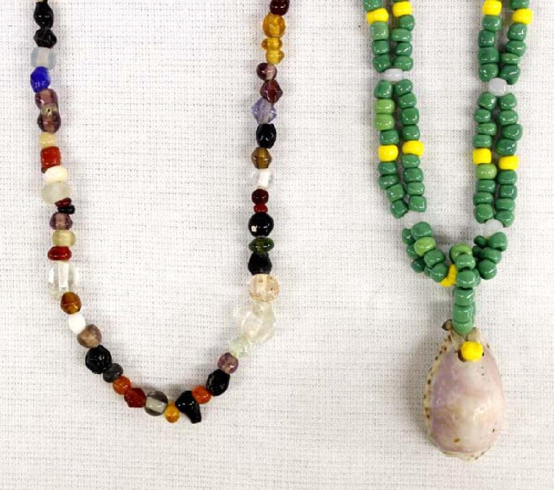 2 Sioux Beaded Necklaces by Joseph Little Wolf