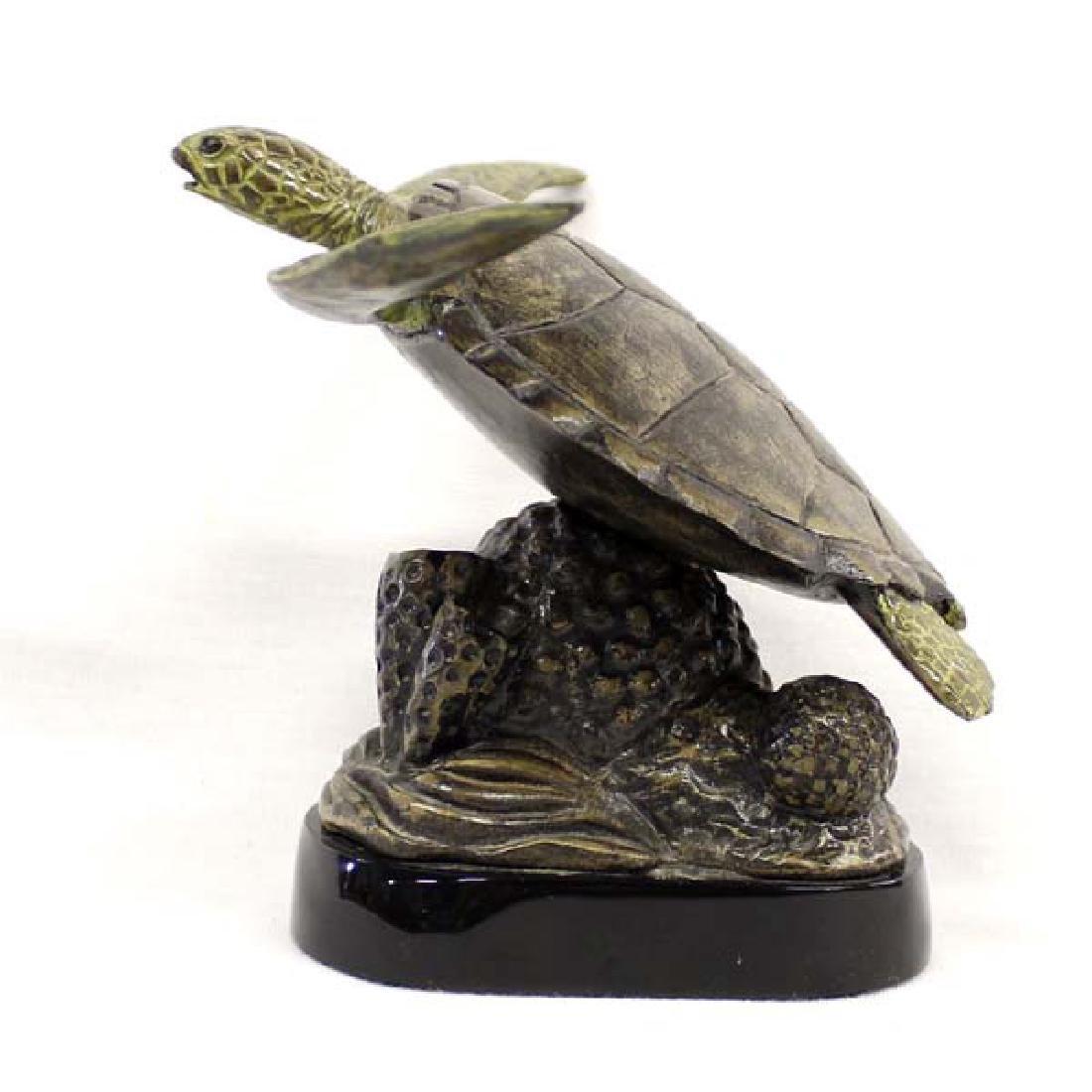 Sea Turtle Sculpture by Scott Lewerke