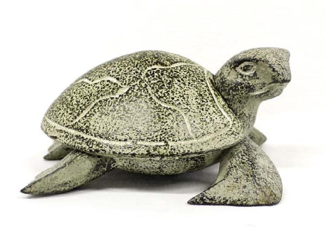 Indonesian Carved Wood Lidded Turtle Trinket Box