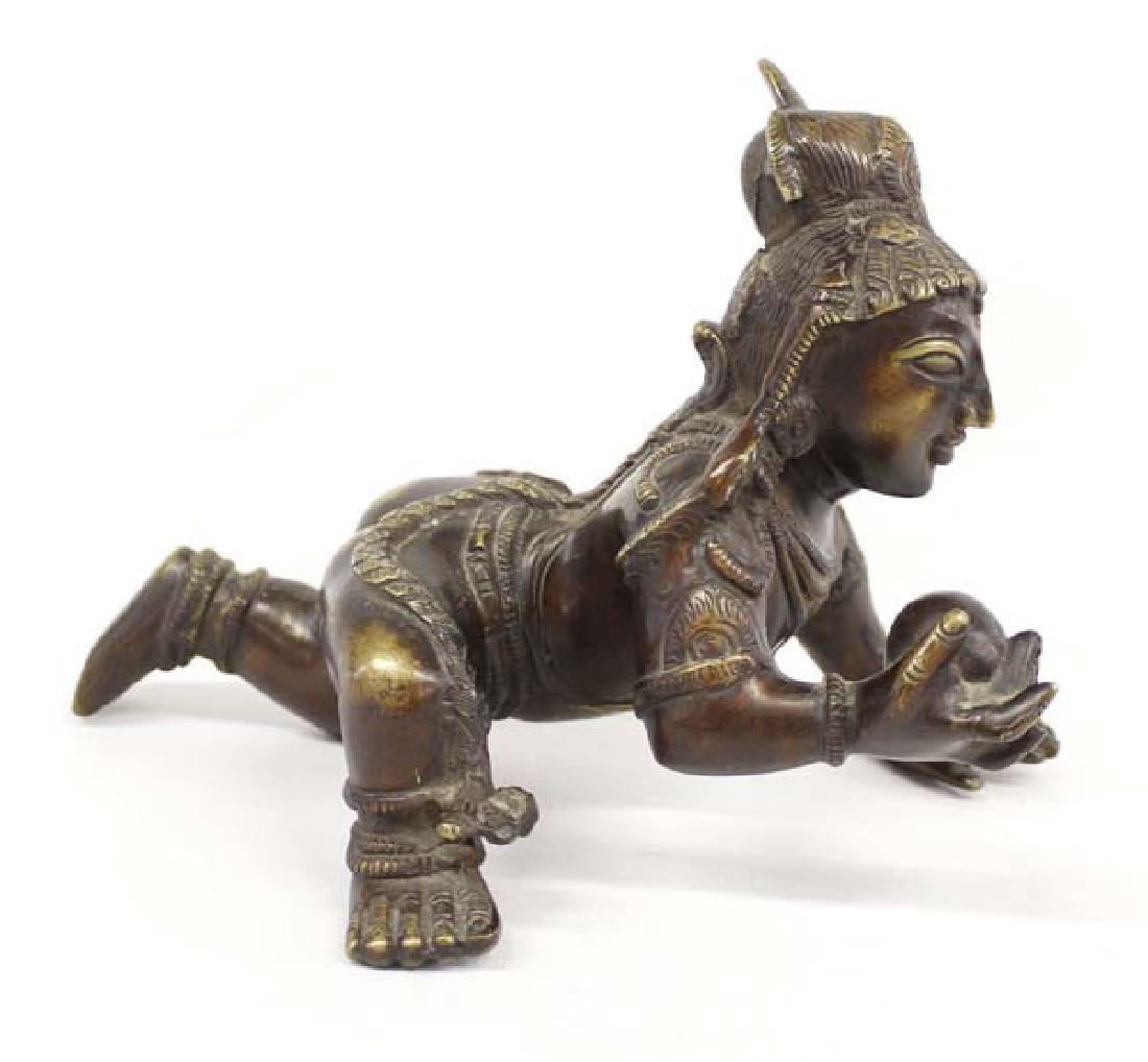 Very Heavy Brass Baby Krishna Statue