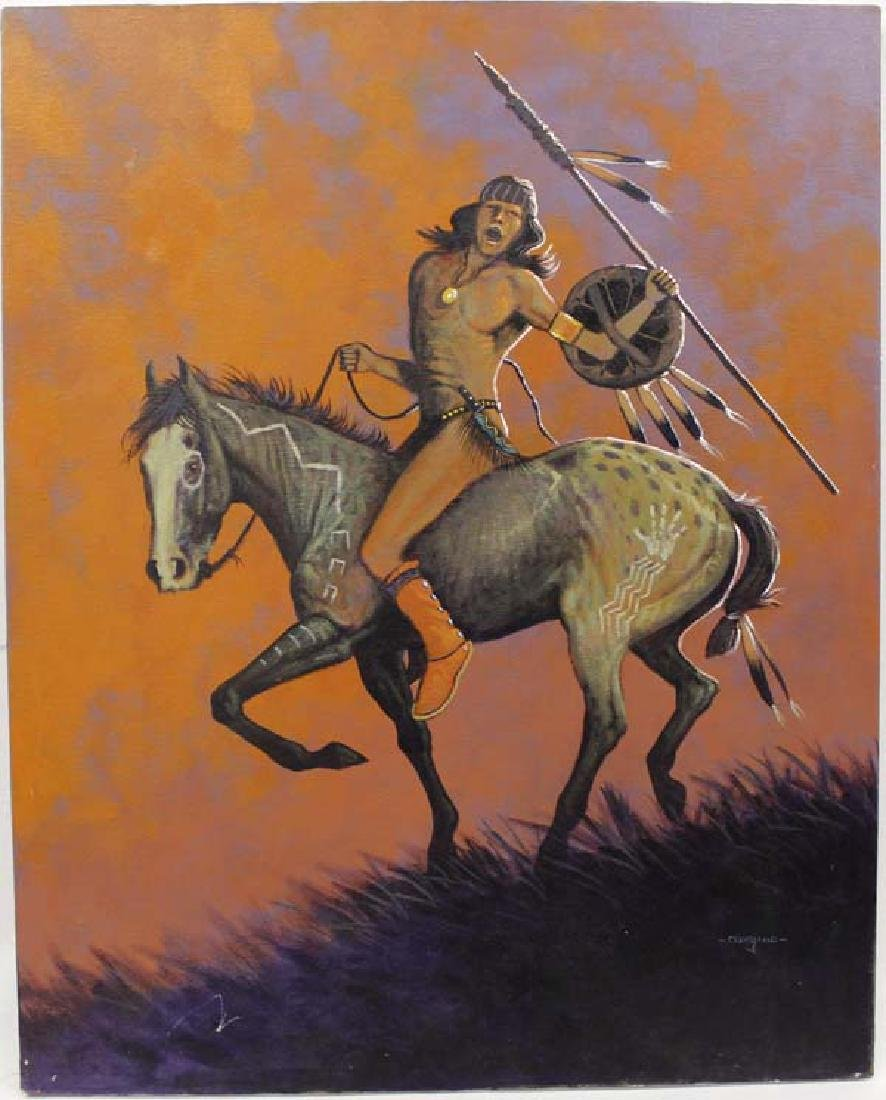 Original Native American Painting by Cleveland