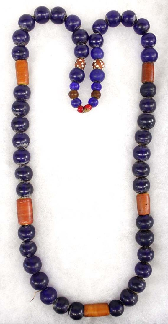 Antique Cobalt Blue Trade Beads