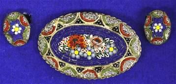 Vintage Italian Micro Mosaic Estate Jewelry