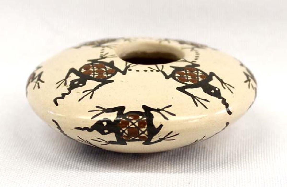 Miniature Mata Ortiz Frog Seed Jar by Carmen Veloz