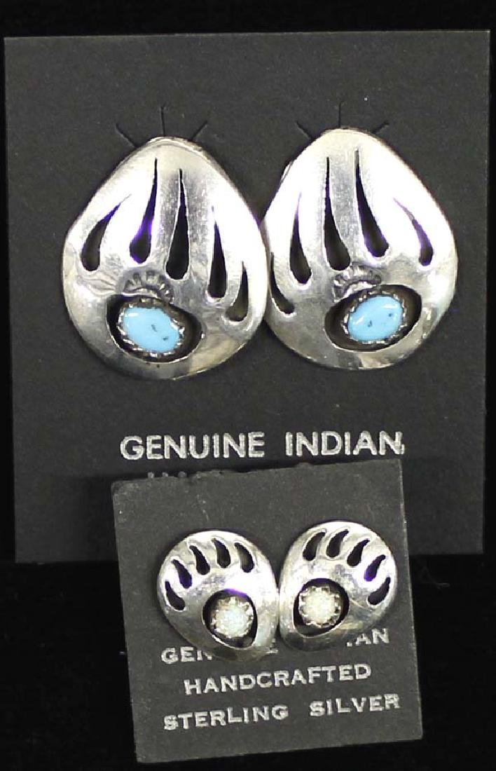 6 Pairs of Navajo and Zuni Sterling Earrings - 3