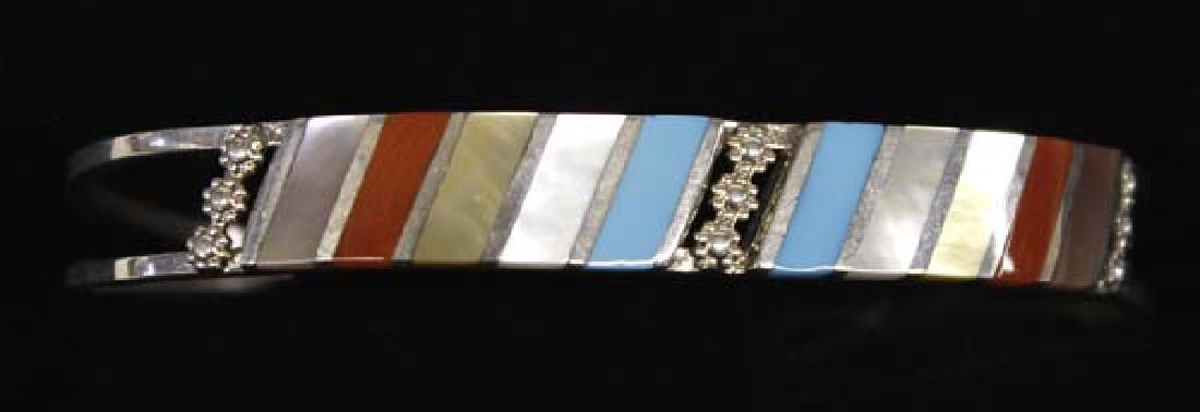 Zuni Sterling Multi-Stone Bracelet, Fabian Sheyka