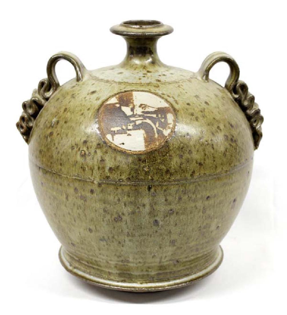 Artisan Crafted Stoneware Jug Vase by Lustey